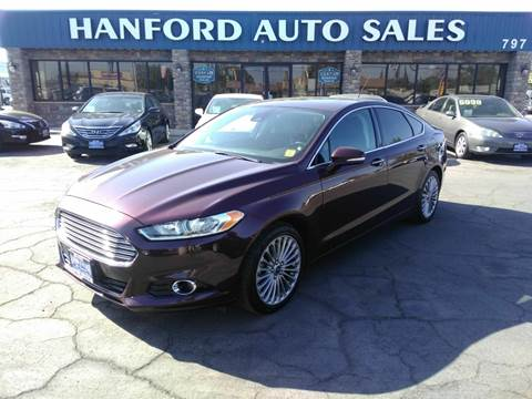 Hanford Auto Sales >> 2013 Ford Fusion For Sale In Hanford Ca