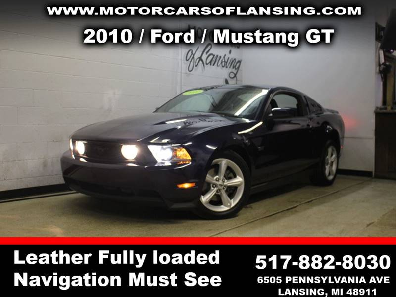 2010 FORD MUSTANG GT 2DR COUPE blue fixed glass roofloaded leather exhaust - dual tip exhaust