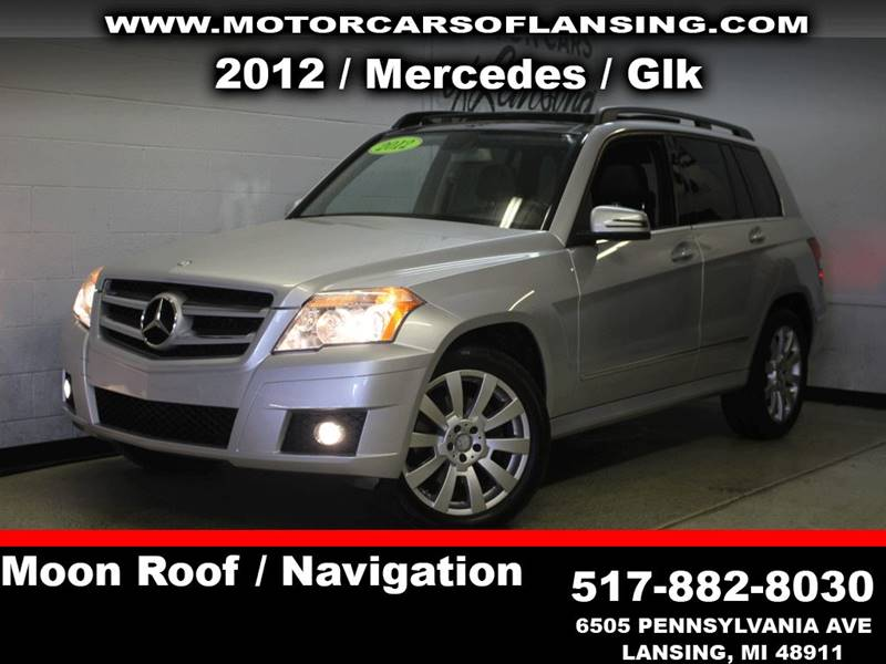 2012 MERCEDES-BENZ GLK GLK 350 4MATIC AWD 4DR SUV silver loaded leather must see exhaust - dual t