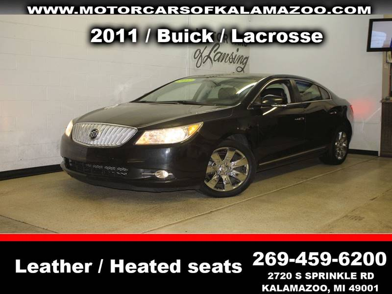 2011 BUICK LACROSSE CXL 4DR SEDAN black leather loaded chrome wheels exhaust - dual tip body