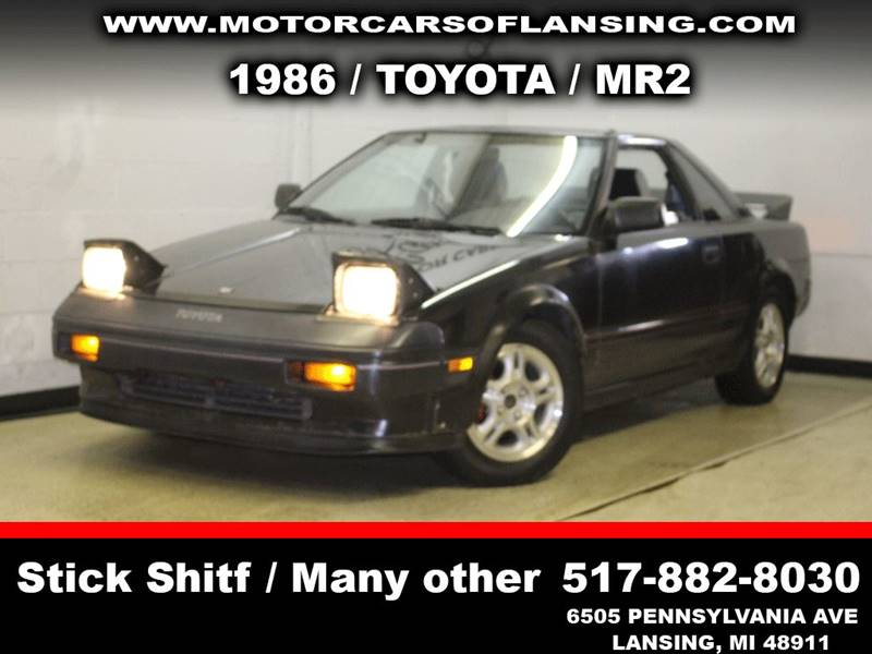 1986 TOYOTA MR2 BASE 2DR COUPE black front air dam rear spoiler steering wheel trim - leather