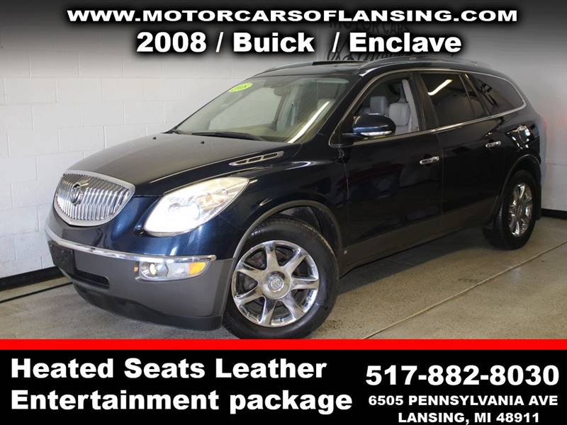 2008 BUICK ENCLAVE CXL AWD 4DR SUV blue dvddual moonroofloadedchrome wheels this vehicle is re