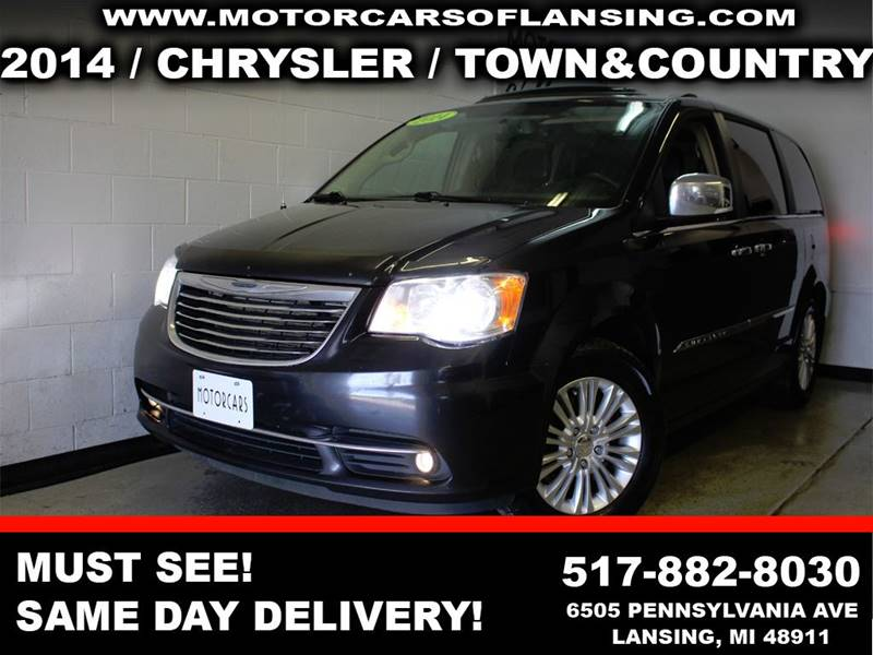 2014 CHRYSLER TOWN AND COUNTRY LIMITED 4DR MINI VAN black room for the whole family with 3rd row s