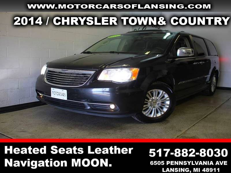 2014 CHRYSLER TOWN AND COUNTRY LIMITED 4DR MINI VAN black power stow n godual dvdevery option yo