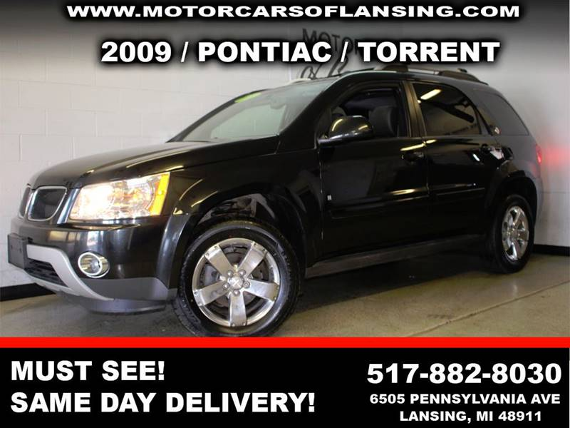 2009 PONTIAC TORRENT BASE AWD 4DR SUV black low mileage   body side moldings - body-color door