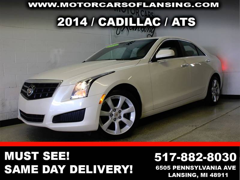 2014 CADILLAC ATS 20T AWD 4DR SEDAN white this ats is a must see well maintained extremely cle