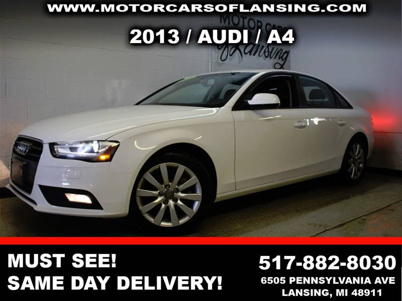 2013 AUDI A4 20T QUATTRO PREMIUM PLUS AWD 4D white this vehicle is a must see extremely clean