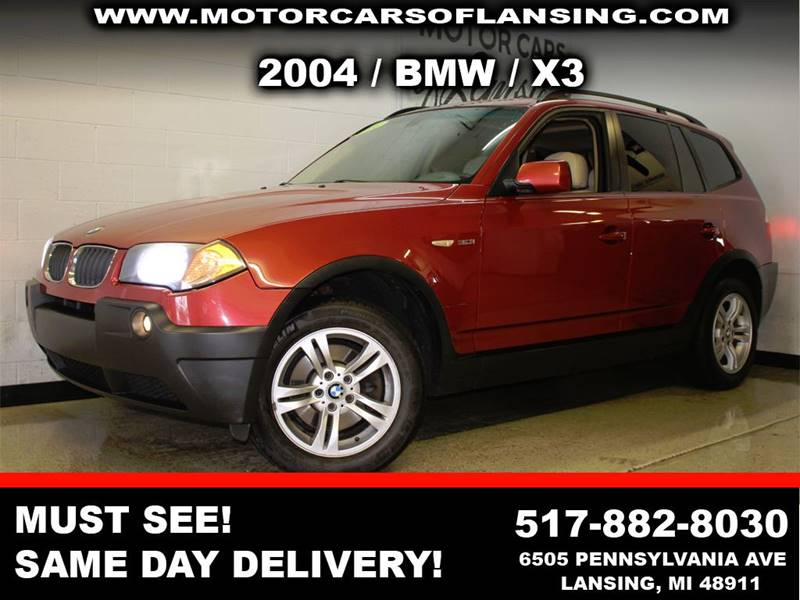 2004 BMW X3 30I AWD 4DR SUV burgundy this x3 is a must see leatherloadedmoonroof  motorcars o
