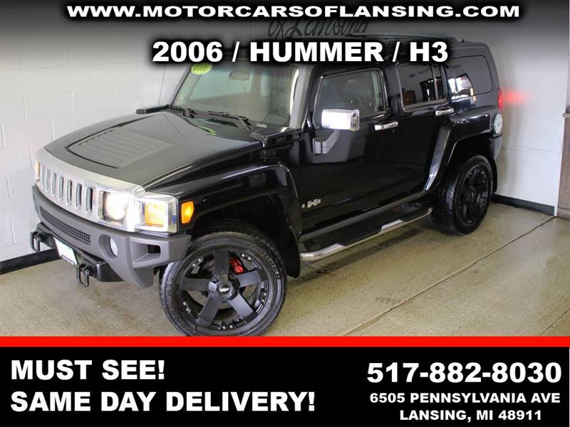 2006 HUMMER H3 BASE 4DR SUV 4WD black this h3 is a must see moonrooftwo tone leatherwell maint