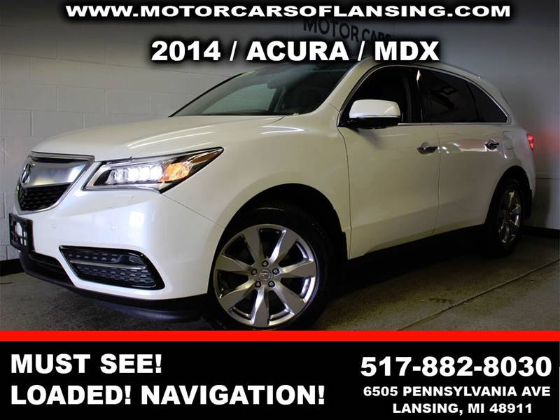 2014 ACURA MDX SH AWD WADVANCE WRES 4DR SUV A white experience the acura mdx this vehicle is t