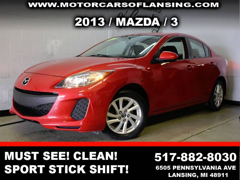 2013 MAZDA MAZDA3 I TOURING 4DR SEDAN 6M red must see mazda 3 well maintained super clean insid