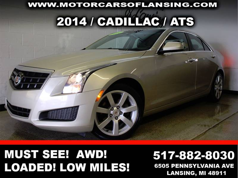 2014 CADILLAC ATS 25L 4DR SEDAN silver welcome to cadillac this ats is a must see showroom cle