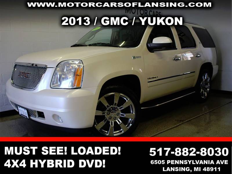 2013 GMC YUKON DENALI HYBRID 4X4 4DR SUV white this yukon is a must see well maintained showroo