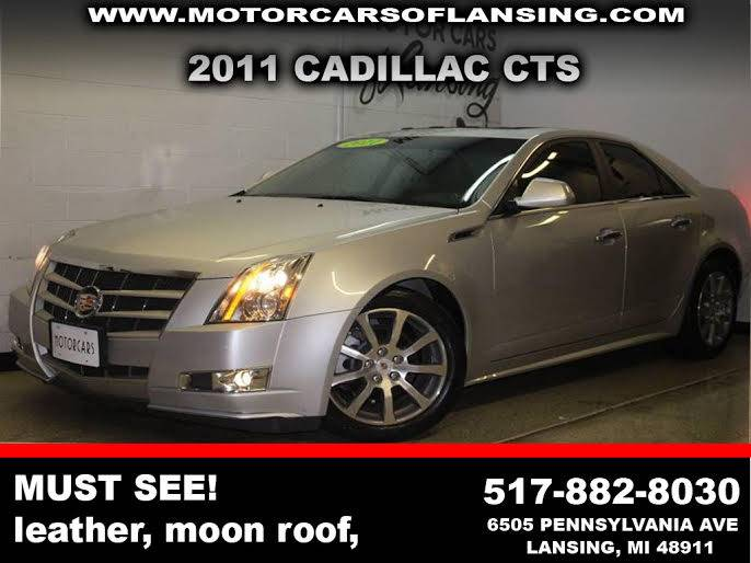 2011 CADILLAC CTS 36L PERFORMANCE 4DR SEDAN silver awd back-up cameraleatheroverhead monitors bl