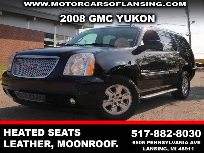 2008 GMC YUKON DENALI AWD 4DR SUV black back-up camera leather overhead monitors drive train -