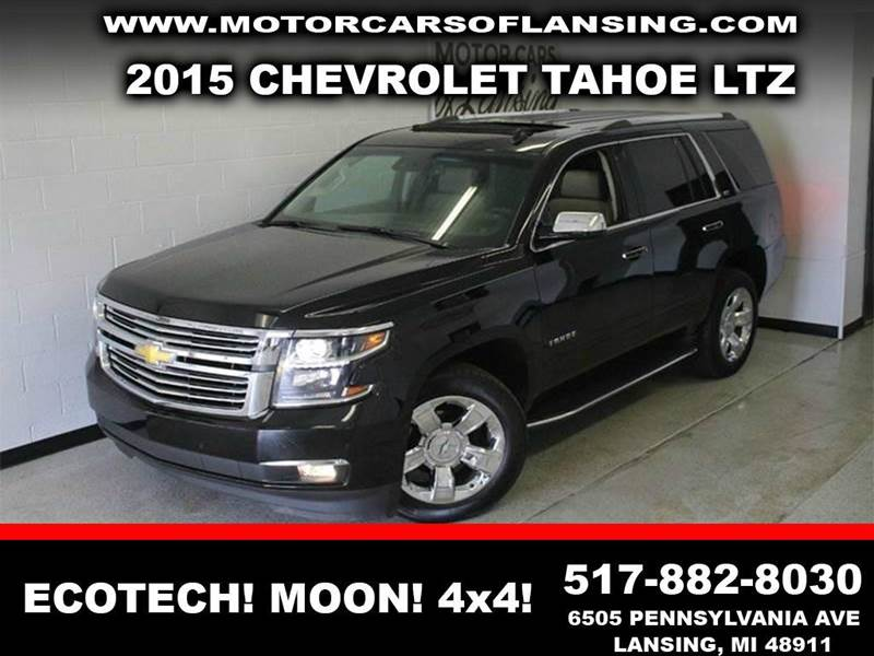 2015 CHEVROLET TAHOE LTZ 4X4 4DR SUV black ecotec3 53l v8 4wd and gray ultra spacious snaps