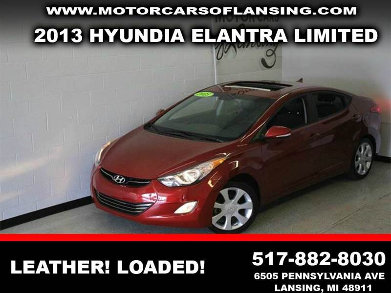 2013 HYUNDAI ELANTRA LIMITED 4DR SEDAN 6A burgundy leather loaded moonroof priced to sell must s