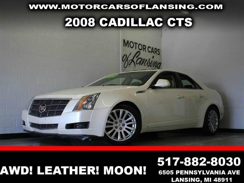 2008 CADILLAC CTS 36L V6 AWD 4DR SEDAN white 36l v6 awd panoramic sunroof heated leather seat