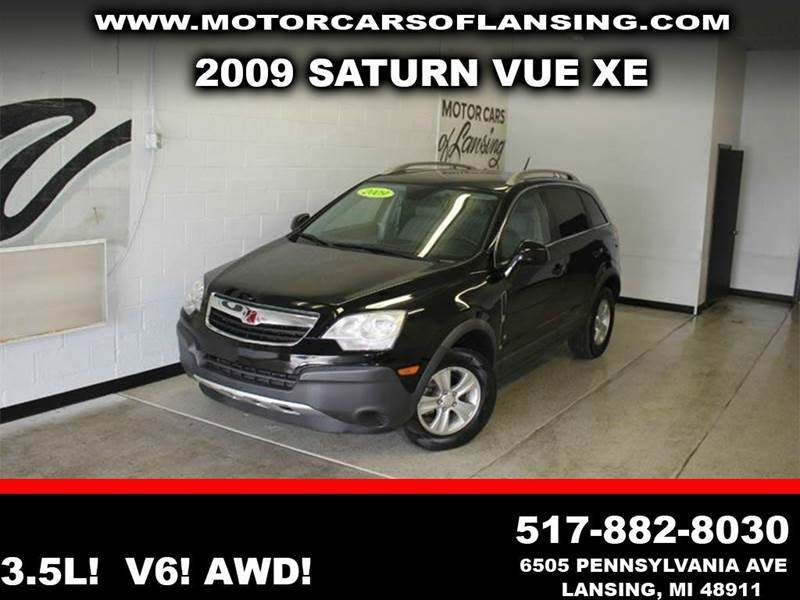 2009 SATURN VUE XE-V6 AWD 4DR SUV black 35l v6 awd clean low miles  3 month 4000 mile lim