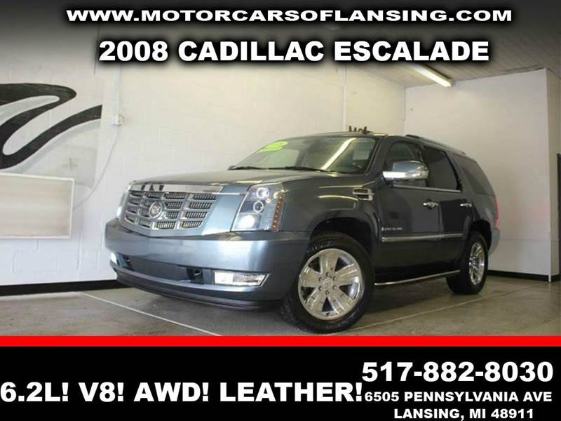 2008 CADILLAC ESCALADE BASE AWD 4DR SUV blue 62l v8 awd leather low miles sunroof  3 mont