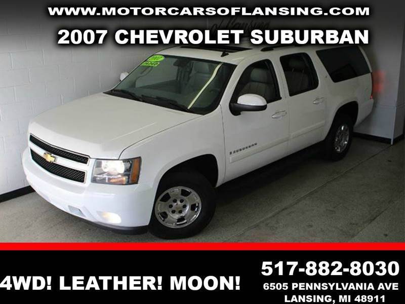 2007 CHEVROLET SUBURBAN LT 1500 4DR SUV 4WD white 53l v8 flex fuel leather sunroof 4wd 2-stag
