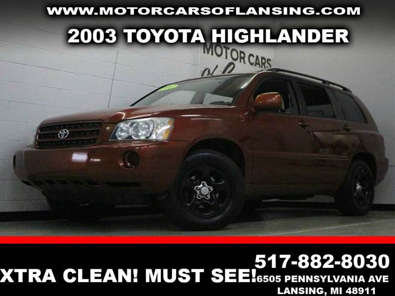 2003 TOYOTA HIGHLANDER BASE FWD 4DR SUV burgundy clean  3 month 4000 mile limited powertrain w