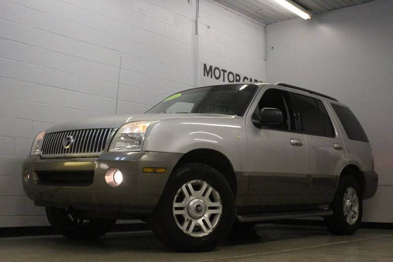 2004 MERCURY MOUNTAINEER BASE AWD 4DR SUV silver leathermoonroof  abs - 4-wheel anti-theft syst