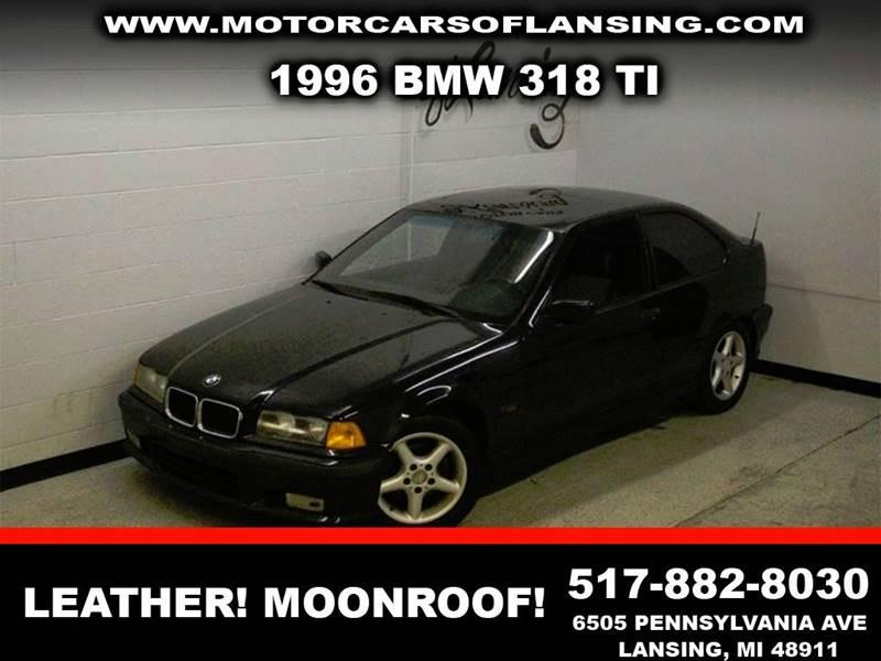 1996 BMW 3 SERIES 318TI 2DR HATCHBACK black abs - 4-wheel anti-theft system - alarm cassette e