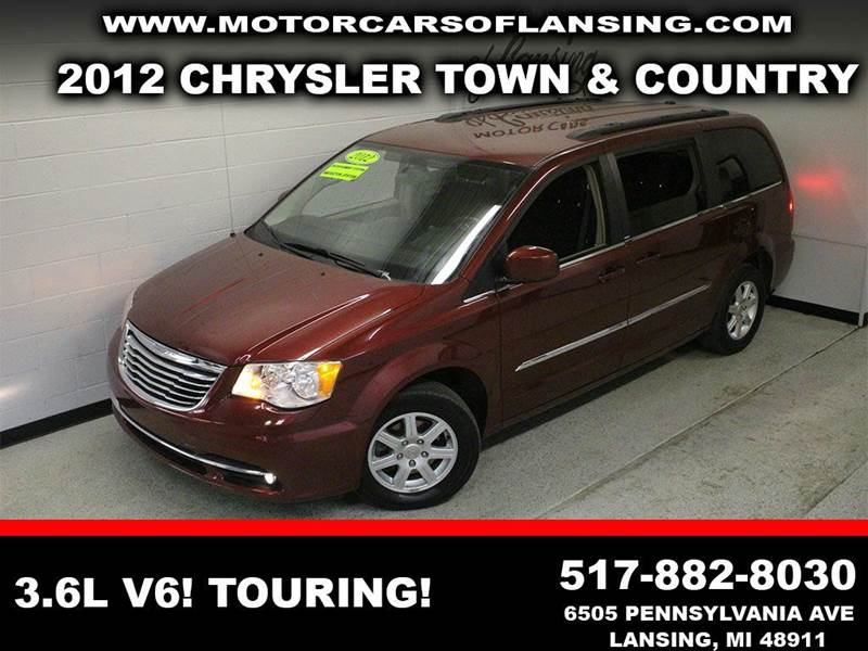 2012 CHRYSLER TOWN AND COUNTRY TOURING 4DR MINI VAN burgundy stow n go  third row seating clean