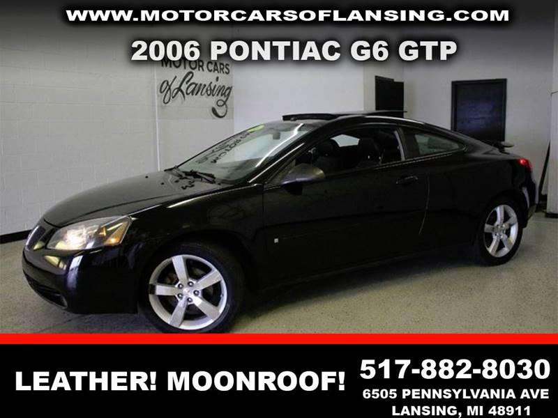 2006 PONTIAC G6 GTP 2DR COUPE black nada retail 7225leather loaded moonroof leather sunroofcle
