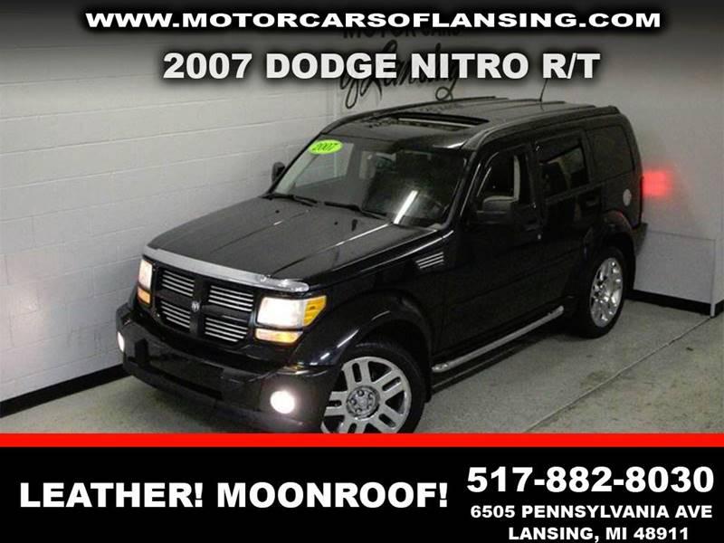 2007 DODGE NITRO RT 4WD 4DR SUV black nada retail 12750leather loadedmoonroof chrome  awd l