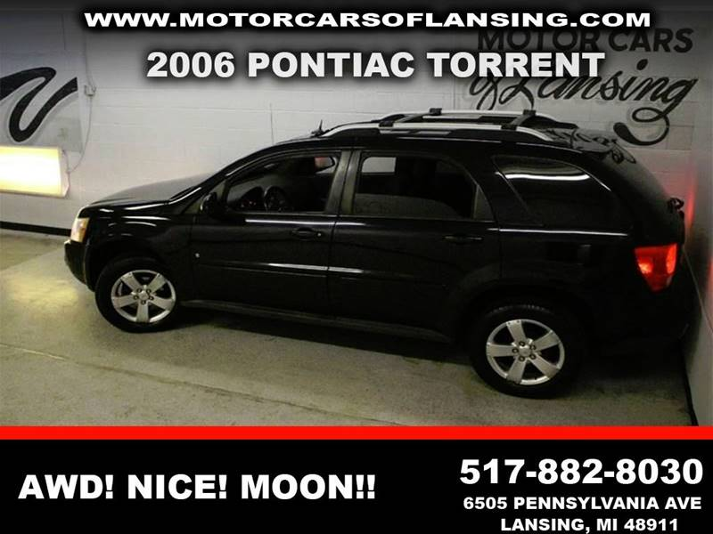 2006 PONTIAC TORRENT BASE AWD 4DR SUV black awd sunroof clean low miles  3 month 4000 mile