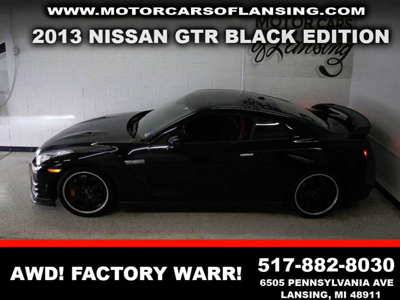 2013 NISSAN GT-R BLACK EDITION AWD 2DR COUPE charcoal very nice clean carfax no previous paint