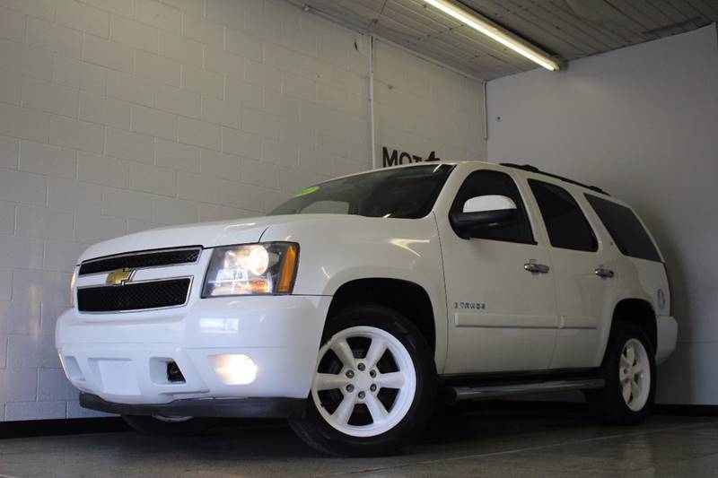 2007 CHEVROLET TAHOE LT 4DR SUV 4WD white leather sunroof third row seating clean low miles