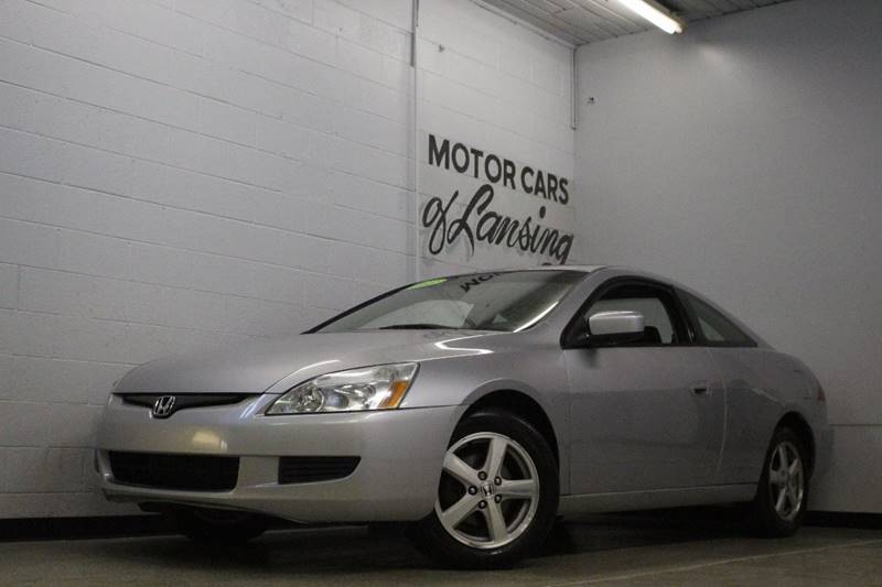 2003 HONDA ACCORD EX 2DR COUPE silver abs - 4-wheel anti-theft system - alarm cd changer cente