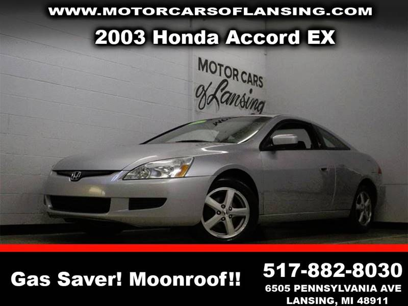 2003 HONDA ACCORD EX 2DR COUPE silver sunroof third row seating clean low miles  3 month 4