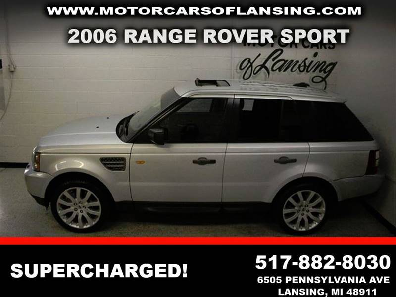 2006 LAND ROVER RANGE ROVER SPORT SUPERCHARGED 4DR SUV 4WD silver supercharged clean v8 awd le