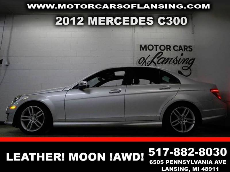 2012 MERCEDES-BENZ C-CLASS C300  4MATIC AWD 4DR SEDAN silver like new inside and out  new tires