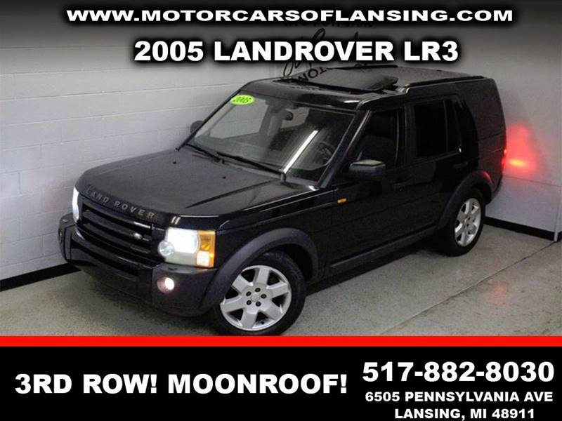 2005 LAND ROVER LR3 HSE 4WD 4DR SUV black dont let the miles scare yathird row seatingclean   v