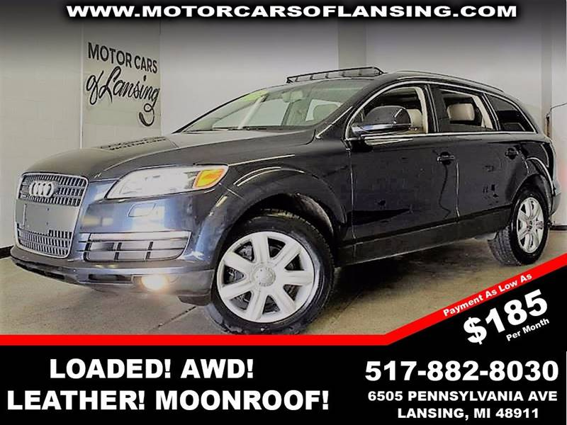 2008 AUDI Q7 36 PREMIUM QUATTRO AWD 4DR SUV charcoal  3 month 3000 mile limited powertrain wa