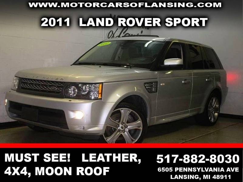 2011 LAND ROVER RANGE ROVER SPORT SUPERCHARGED 4X4 4DR SUV gray back-up camera leather power moonr