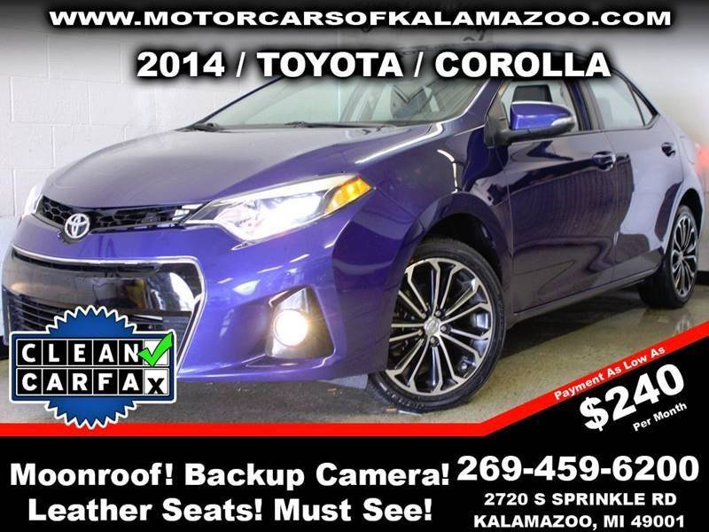 2014 TOYOTA COROLLA S PLUS 4DR SEDAN CVT blue crush metallic parking sensors   leather interior
