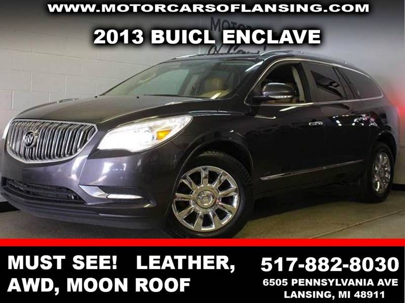 2013 BUICK ENCLAVE LEATHER AWD 4DR CROSSOVER gray exhaust - dual tip headlight bezel color - chr