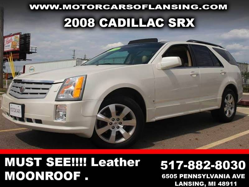 2008 CADILLAC SRX V6 4DR SUV off white awd dvd third row seating this vehicle is ready for the