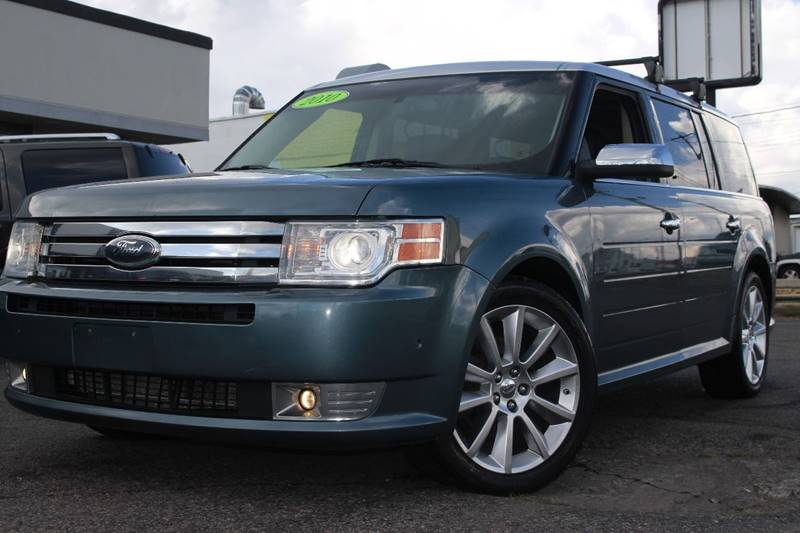 2010 FORD FLEX LIMITED AWD 4DR CROSSOVER WECOB blue rear dual dvd  back-up cameranavigation sys