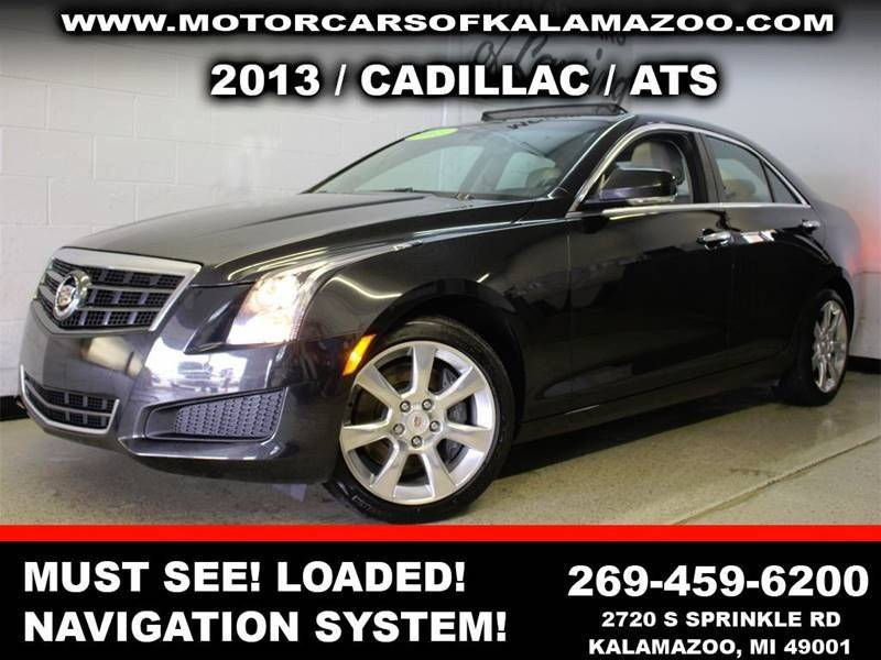 2013 CADILLAC ATS 36L LUXURY AWD 4DR SEDAN black this ats is a must see immaculate inside and o