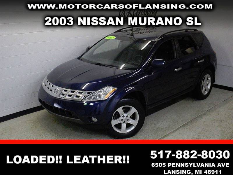 2003 NISSAN MURANO SL blue awd leather sunroof clean low miles  3 month 4000 mile limited