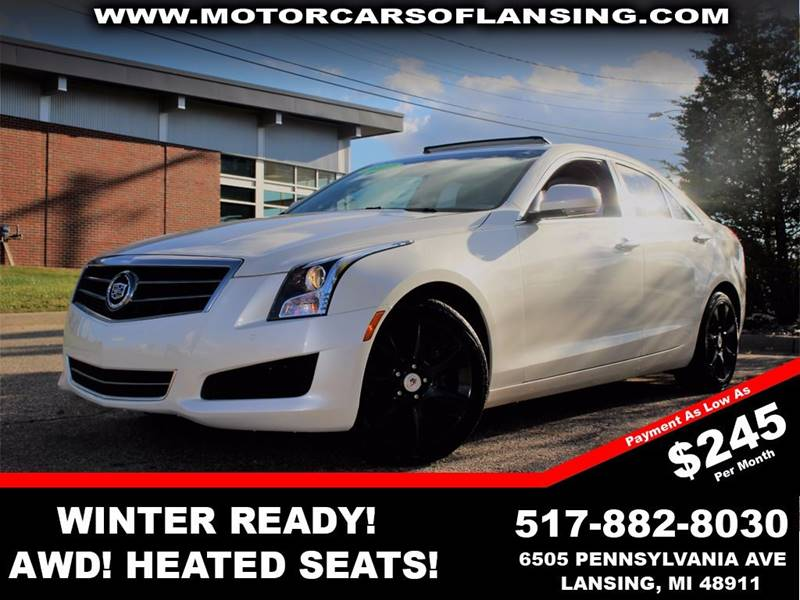 2013 CADILLAC ATS 36L LUXURY AWD 4DR SEDAN white luxury performance packagev6must see this ve