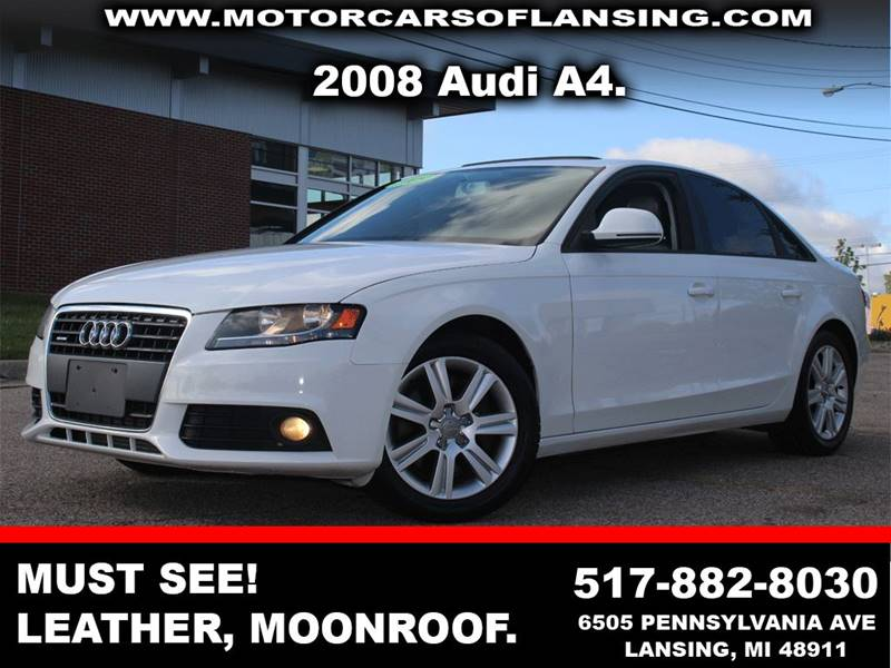 2009 AUDI A4 20T PREMIUM PLUS 4DR SEDAN CVT white leatherloadedawd this vehicle is ready for