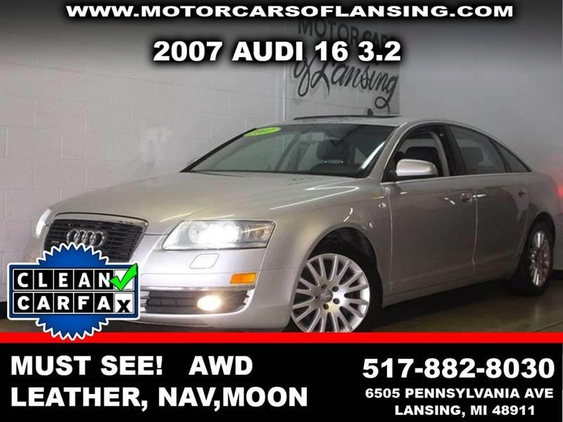 2007 AUDI A6 32 QUATTRO AWD 4DR SEDAN silver loaded leather moonroof this vehicle is ready for